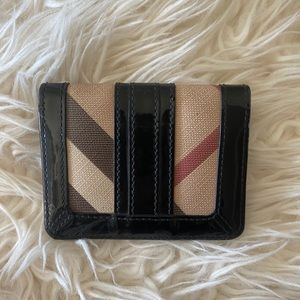 Burberry Supernova patent lined wallet